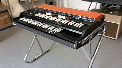 Vox Continental II organ with chrome Z stand
