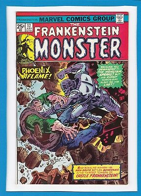 "Frankenstein Monster #17_July 1975_Nm Minus_""phoenix Aflame""_Bronze Horror!"