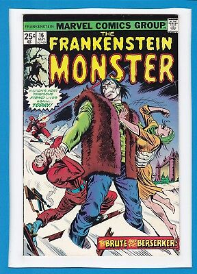 "Frankenstein Monster #16_May 1975_Very Fine/near Mint_""brute And The Berserker""!"