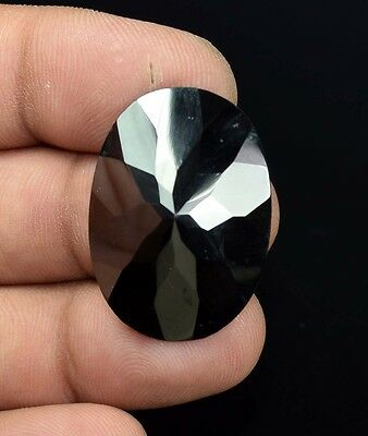 53.25 Cts. 100 % Natural  Hematite  Oval  Checker Cut  Loose  Gemstones