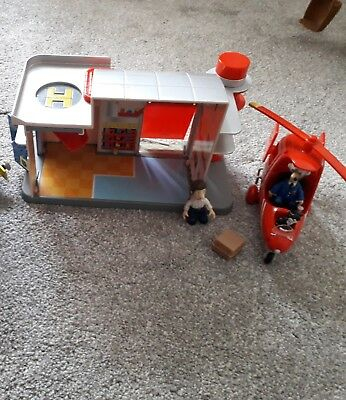 Postman pat sorting office with helicopter and Figures