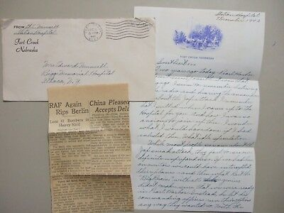 Military HOSPITAL Fort Crook Nebraska cover with content