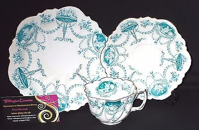 VINTAGE Redfern & Drakeford BALMORAL CHINA Cup, Saucer, Side Plate - Daisy Shape