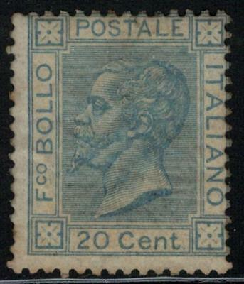 ITALY 1867 VEII 20c London printing MH Signed / B13871