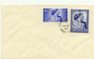 1948 Silver Wedding FDC George Town Jesey Channel Islands CDS