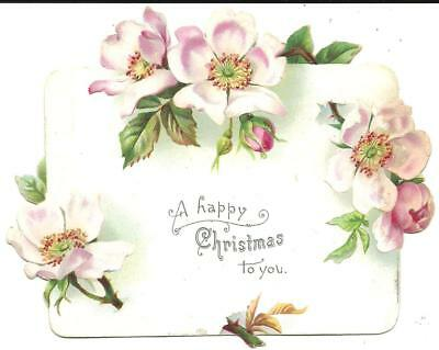 """Victorian Christmas Card """"a Happy Christmas To You"""" (Colour Printed)"""