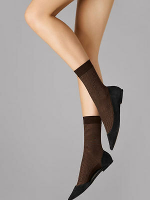 Wolford  Cotton Stripes Socks   Color   Coca/mocca  Size   Small