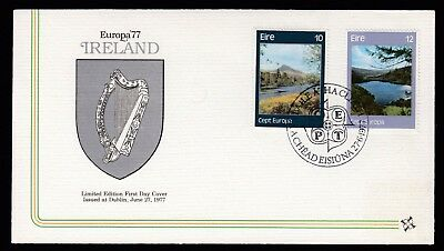 Ireland 1977 FDC Europa Irish Landscapes - Galway & Lough Tay, Wicklow