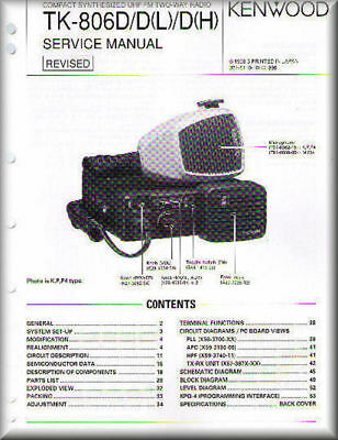 KENWOOD Service Manual TK-806D/D(L)/D(H)