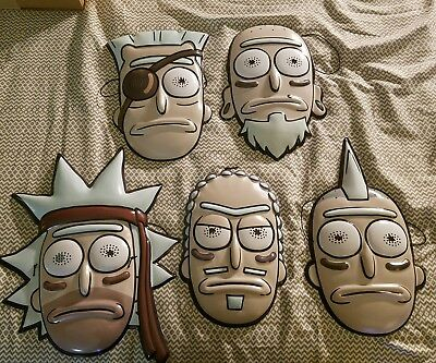 Rick And Morty Seal Team Rick Mask Set of 5 Masks Halloween Adult Swim SDCC 2017