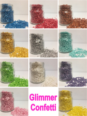 Glimmer Confetti (4mm) Sprinkles *choice of colours* Cupcake / Cake Decorations