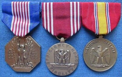 VN-War period US Army full size Soldier's Medal, Good Conduct Medal, & NDSM