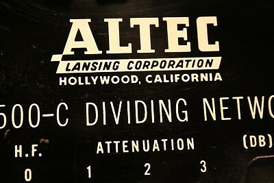 Very Early Altec Lansing Crossover N-500C  Hollywood California,