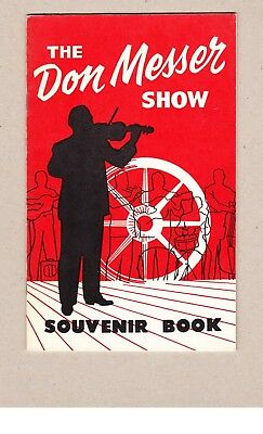 The Don Messer Show Souvenir Book SIGNED by Don Messer ca1960 Softcover