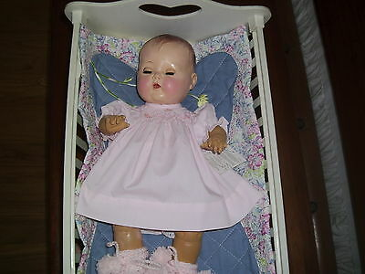 """No Doll Beautiful Smocked Dress&booties For 15"""" Doll Tiny Tears Betsy Wetsy"""