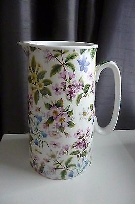 Heron Cross Pottery Floral Patterned Chintz English 2 Pint Milk Jug - Great cond
