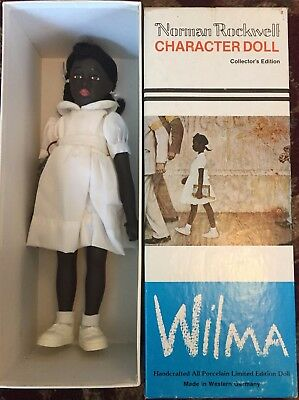 Norman Rockwell WILMA Doll African American Black Girl Mary Moline Germany 1981