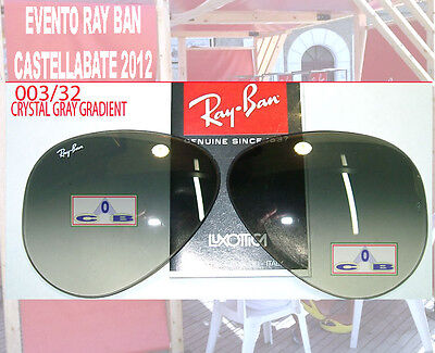 Ray Ban 3025 aviator Large Lenti Ricambio 32 Gradient grey 58 Replacement Lenses