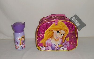 New Disney Store Tangled Rapunzel Lunch Bag and Aluminum Drink Bottle
