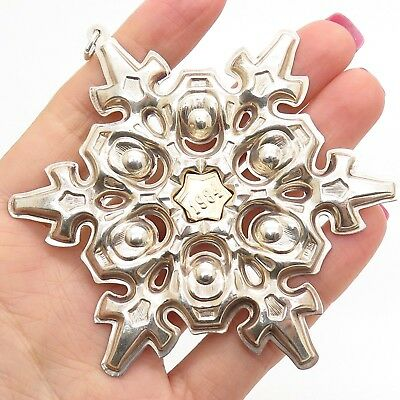 1984 GORHAM Sterling Silver Designer Collectible Snowflake Christmas Ornament