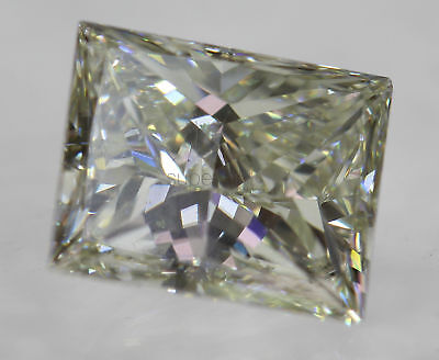 Certified 1.03 Carat J VS2 Princess Enhanced Natural Diamond 6.38x5.24mm 2VG