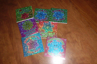 7 Sparkling Snowflake Writing Notepads Multi Colored New
