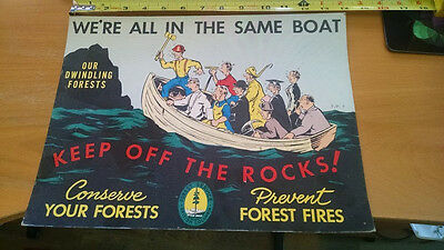 Vintage BC Forest Service British Columbia sign