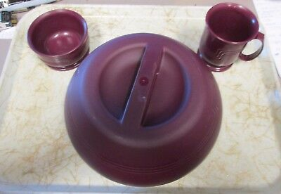 DINEX DX831061 Induction Htg Sys Base/Cambro Cover 8oz Cup 9oz Bowl Cranberry
