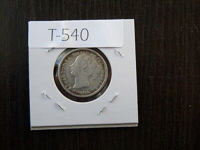 Vintage Canada 1858   20 Cent Silver Cat Value  95.00  T540
