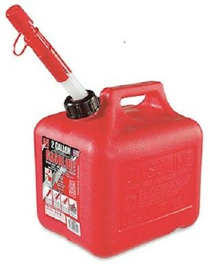 1 Midwest Can Company 2 Gallon 6 Oz Red Plastic Gas Can Spill Proof Spout - 2300