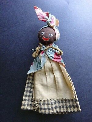 """Antique Vintage Black Americana Doll- 5 1/2"""" Painted face"""