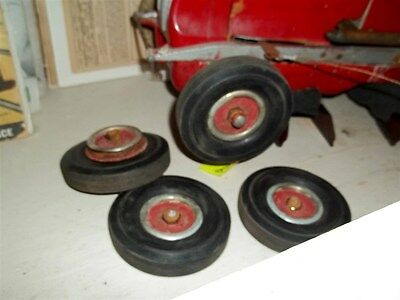 Vintage Pre-War Tether Race Car TIRES & WHEELS (4) 1940