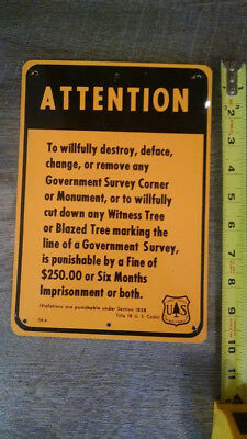 "U.s. Forest Service Sign 7""x10"" Metal"