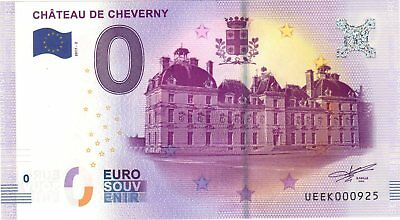 Billet 0 Euro Souvenir - Chateau De Cheverny - Armoiries 2017