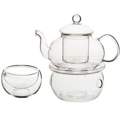 Set of Heat-resistant Glass Teapot with Strainer Flowers And Flower Tea Kun I4Y4