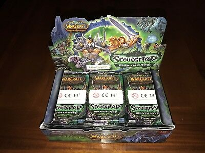 World Of Warcraft Scourgewar Wrathgate 24 Count Booster Box For WoW TCG