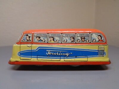 Technofix Germany Vintage Tinplate Penny Toy Touring Bus Ge 295 Very Rare Vg