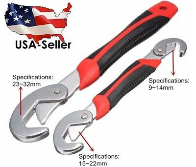 Mustool 2Pcs Universal Quick Adjustable 9-32mm Multi-function Wrench Spanner