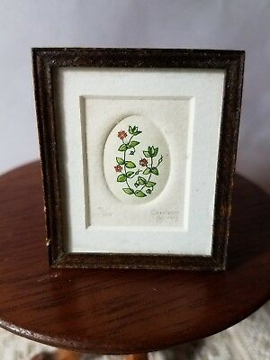 Miniature Igma Fellow Signed Jane Conneen Print Scarlet Pimpernel Numbered
