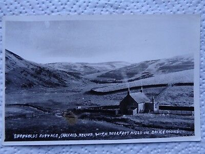 Shepards cottage GARVALD HERIOT - Moorfoot Hills - Fine B/W RP Used Lothian
