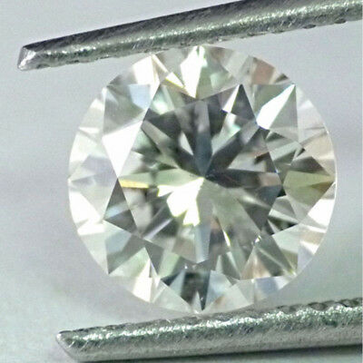 Nice  4.06 ct 10.80 mm VVS1 Off White Green tint Round Cut Loose Moissanite