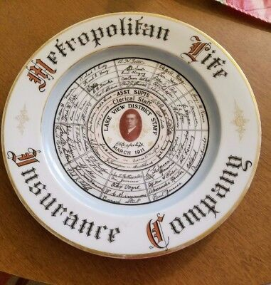 Beautiful 1911 Metropolitan Life Insurance plate from the Chicago field office