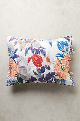 Anthropologie TRADEWINDS Pillow Shams STD Set//2 Cotton Map Lines Color Dots NWT