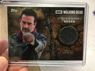 2017 Walking Dead Negan Topps Season 7 Wardobe Relic 06/25 Jeffrey Morgan Pants