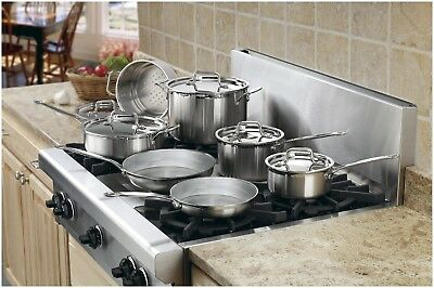Cuisinart Cookware Set - MultiClad Pro 12 Pc Stainless Steel Cookware