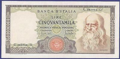 Gem Uncirculated 50.000 Lire 1967 Banknote From Italy. Super Super Huge Value