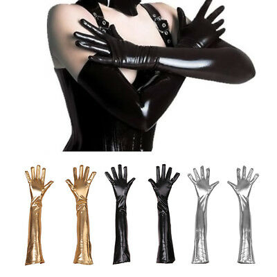 Gloves Festival Halloween Costume Accessory Adult Long Solid Elbow Latex
