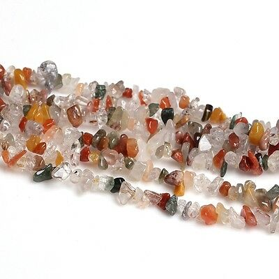 "16""L Multi-Coloured Gemstone Jewelry Loose Chip Beads 1 Strand"