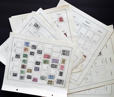 130 Belgium Stamps On Ka-Be Album Pages 1849-1938