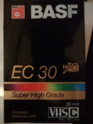 1 x BASF EC 30 Super High Grade Compact Videocassette VHS-C BRAND NEW / SEALED!